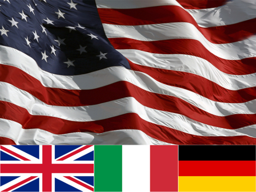 Made in America, UK, Italy, Germany