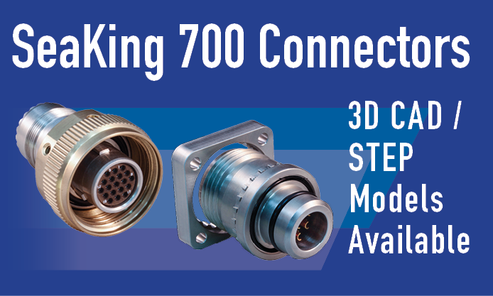 SeaKing 700 Underwater Connector 3D CAD Model Files