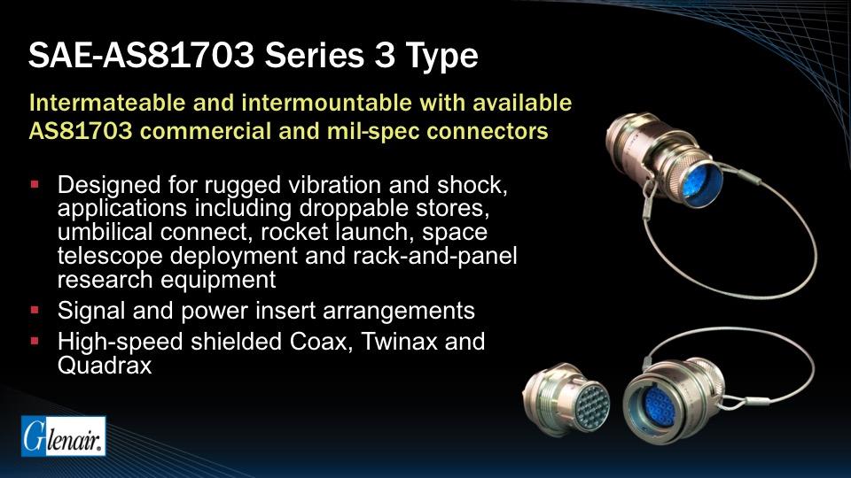 SAE / AS81703 Series 3 Type Connectors - Glenair, Inc